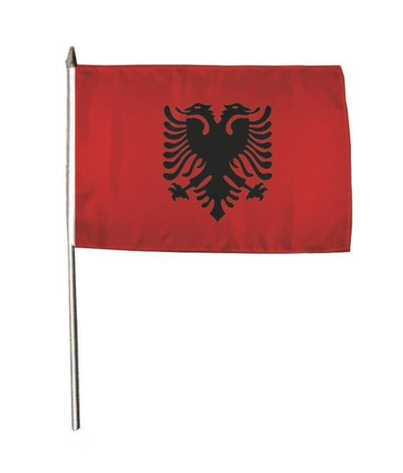 Stockflagge Albanien 30 x 45 cm