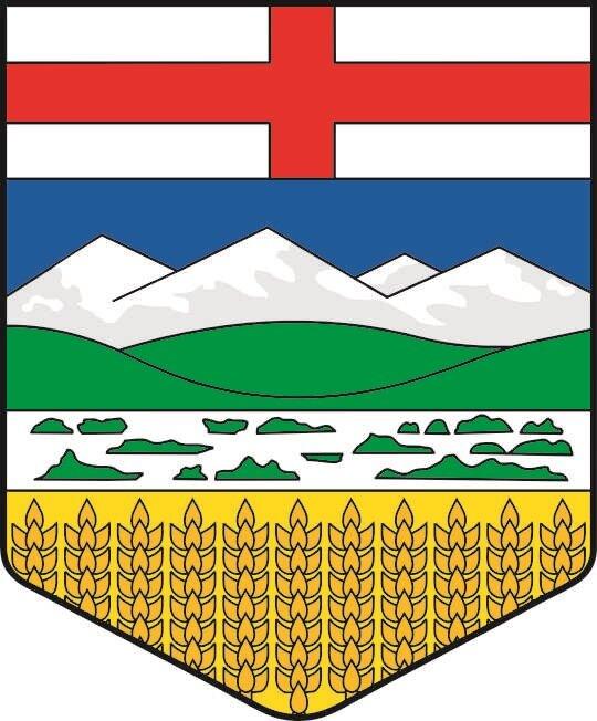 Aufkleber Alberta Wappen