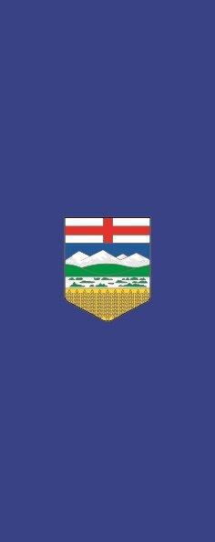 Flagge Alberta im Hochformat