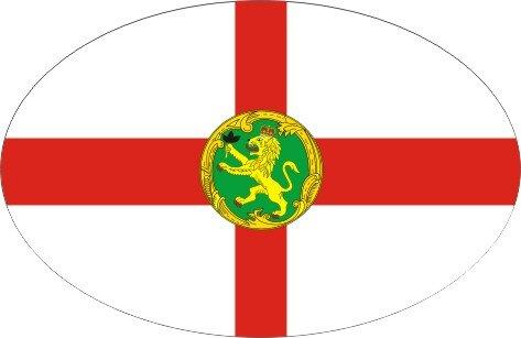 Aufkleber oval Alderney 10 x 6,5 cm
