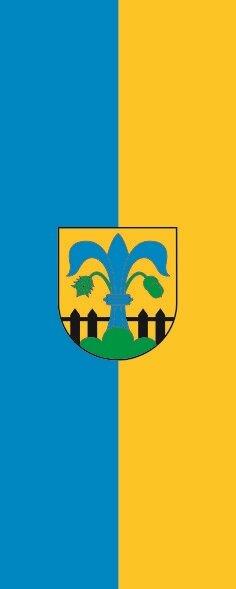 Flagge Alfdorf im Hochformat