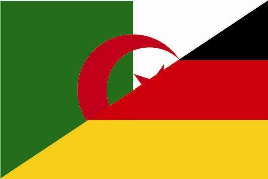 Aufkleber Algerien - Deutschland