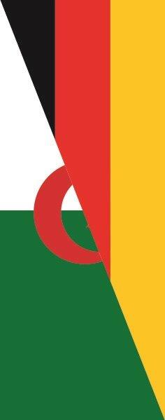 Flagge Algerien - Deutschland im Hochformat