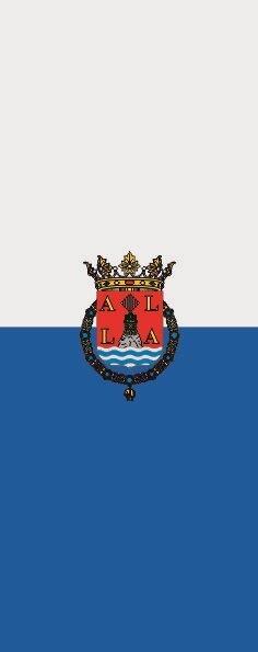 Flagge Alicante im Hochformat