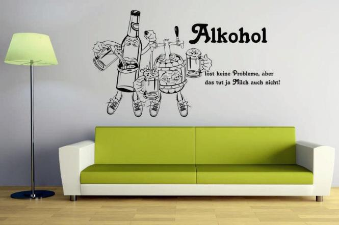 wandtattoo alkohol. Black Bedroom Furniture Sets. Home Design Ideas