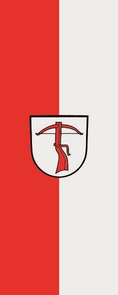 Flagge Allmersbach im Tal im Hochformat