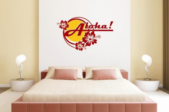 Wandtattoo Aloha Color