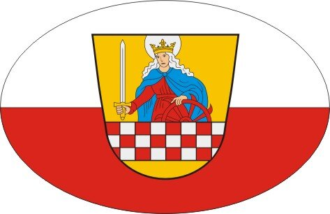 Aufkleber oval Altena 10 x 6,5 cm
