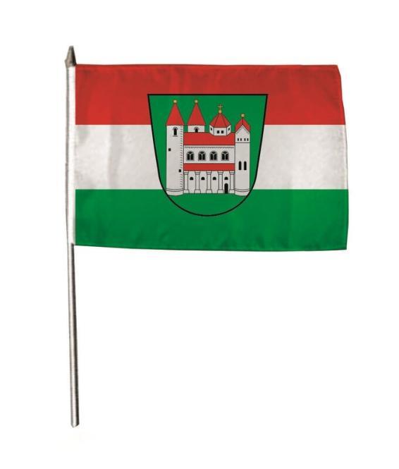 Stockflagge Amorbach 30 x 45 cm