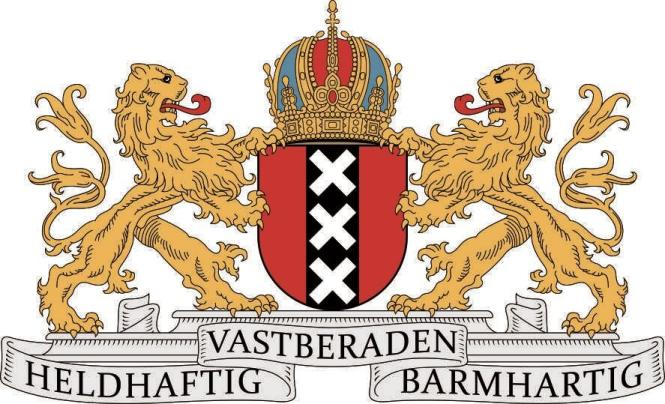 Aufkleber Amsterdam Wappen