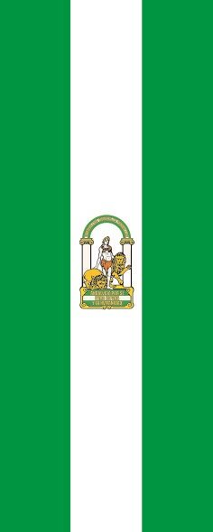 Flagge Andalusien im Hochformat