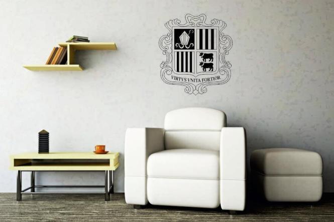 Wandtattoo Andorra Wappen