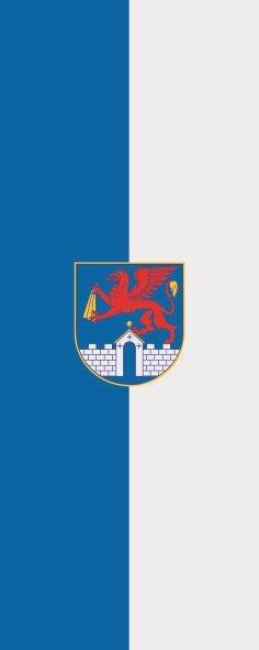 Flagge Anklam im Hochformat