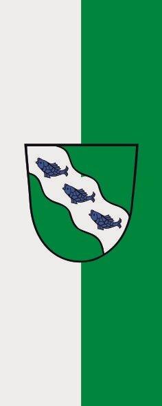 Flagge Ansbach im Hochformat