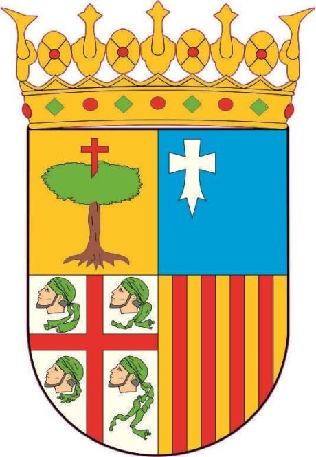 Aufkleber Aragon Wappen