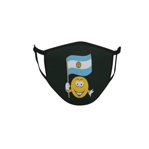 Gesichtsmaske Behelfsmaske Mundschutz schwarz Argentinien Smily