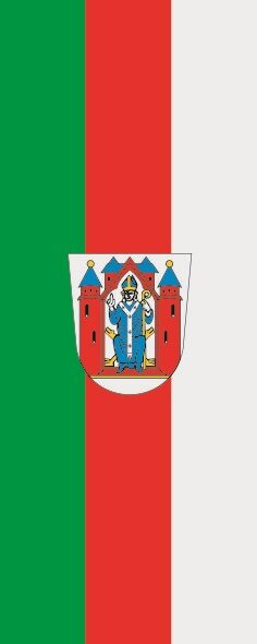 Flagge Aschaffenburg im Hochformat