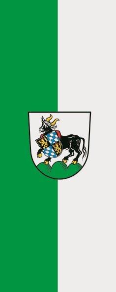 Flagge Auerbach in der Oberpfalz im Hochformat
