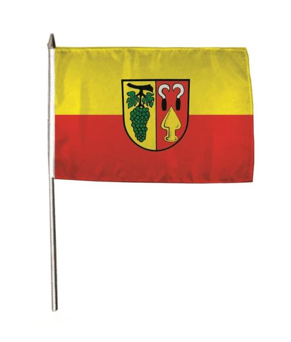 Stockflagge Auggen 30 x 45 cm