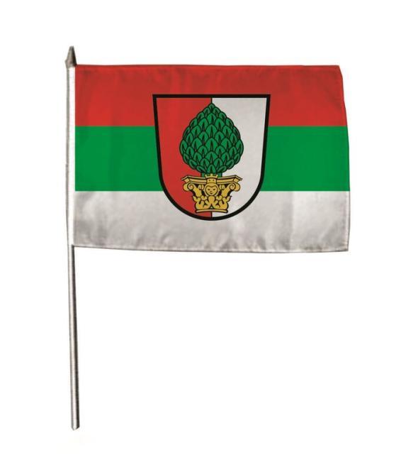 Stockflagge Augsburg 30 x 45 cm