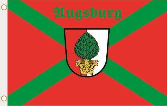 Fahne Augsburg Kreuz 90 x 150 cm