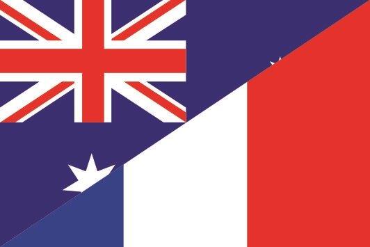Flagge Australien - Frankreich