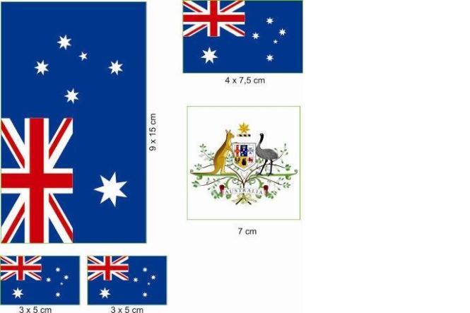 Aufkleberbogen Australien