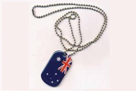 Dog Tag Erkennungsmarke Australien 3 x 5 cm