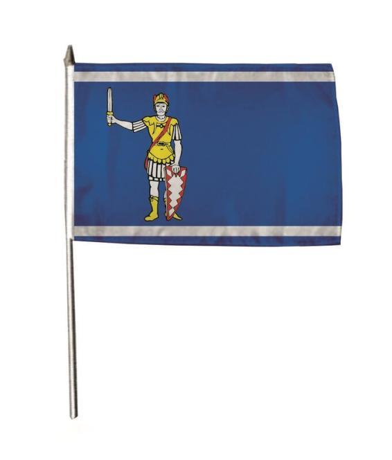 Stockflagge Bad Bramstedt 30 x 45 cm
