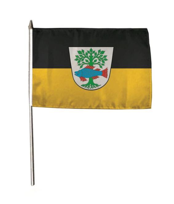 Stockflagge Bad Buchau 30 x 45 cm