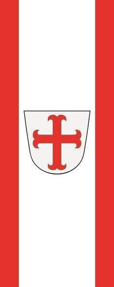 Flagge Bad Pyrmont im Hochformat