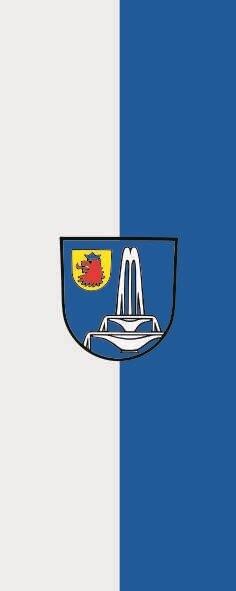 Flagge Bad Schönborn im Hochformat