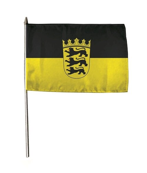 Stockflagge Baden-Württemberg 30 x 45 cm