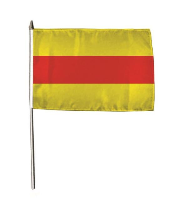 Stockflagge Baden ohne Wappen 30 x 45 cm