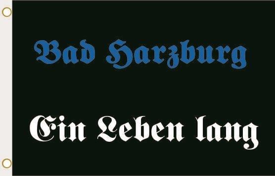 Fahne Bad Harzburg Ein Leben lang 90 x 150 cm