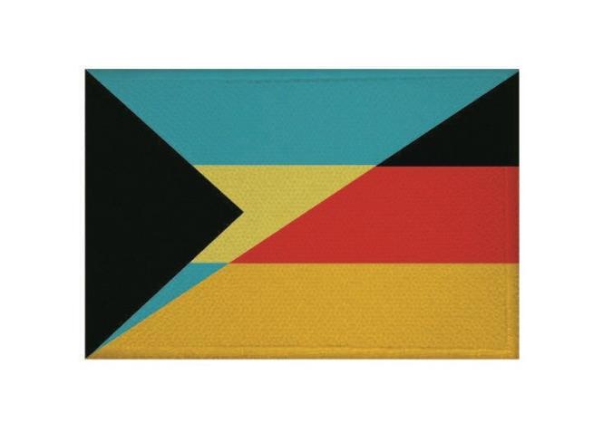 Aufnäher Patch Bahamas - Deutschland 9 x 6 cm