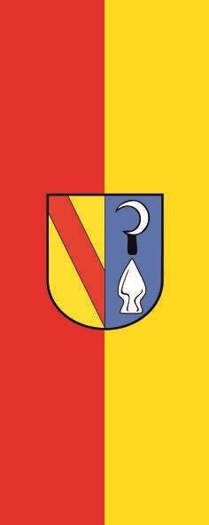Flagge Bahlingen am Kaiserstuhl im Hochformat