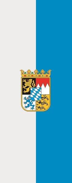 Flagge Bayern Dienstfahne im Hochformat