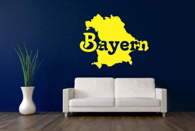 Wandtattoo Bayern Karte