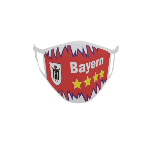 Gesichtsmaske Behelfsmaske Mundschutz Bayern Fan