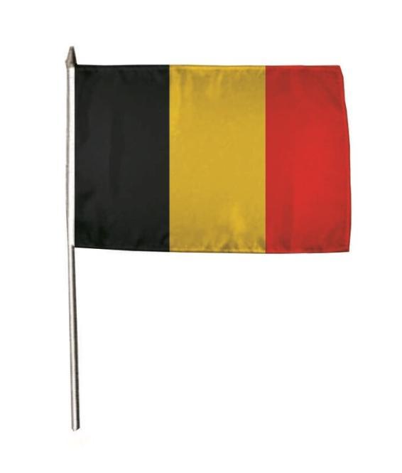 Stockflagge Belgien 30 x 45 cm