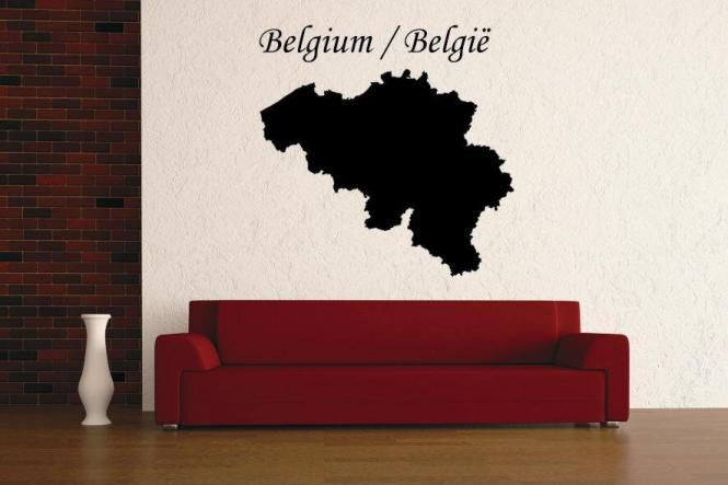Wandtattoo Belgien Karte
