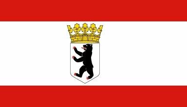 Fahne Berlin Dienstflagge 60 x 90 cm