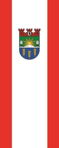 Flagge Berlin Lichtenberg im Hochformat