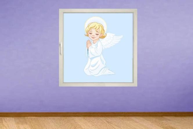 Fenstertattoo Betender Engel