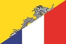 Aufkleber Bhutan-Frankreich