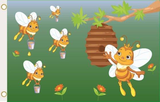 Fahne Bienen Imker 90 x 150 cm