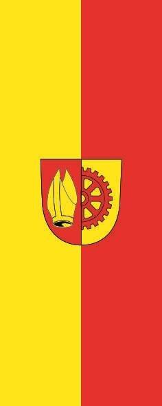 Flagge Bisingen im Hochformat