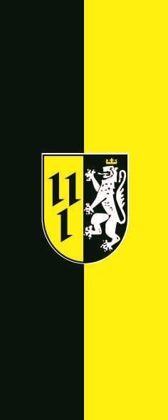 Flagge Bissendorf im Hochformat