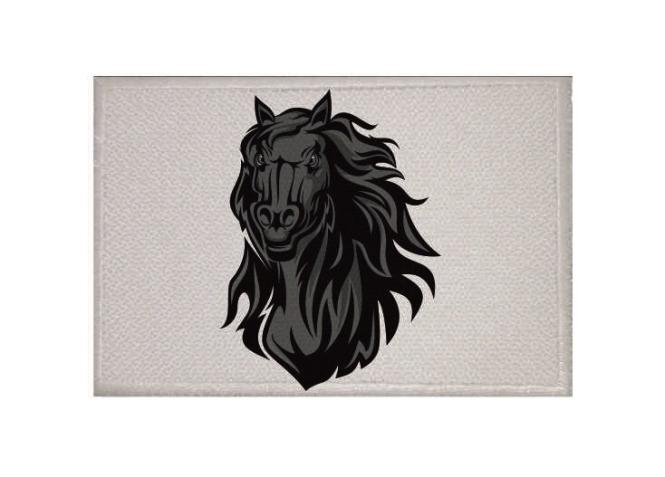Aufnäher Black Horse Pferd Mustang Patch 9 x 6 cm